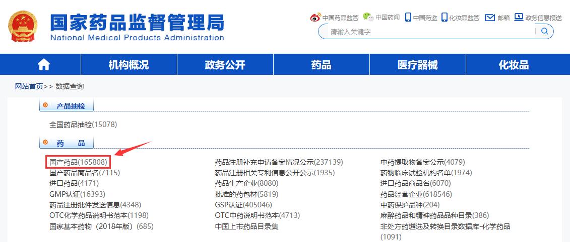 国药准字Z河西雷丸片国家药品查询步骤3